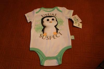 DREAMWORKS BABY 1 piece outfit MINT & WHITE Size 6/9 mos - NWT