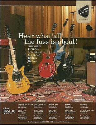 The 2007 First Act  SFA Limited Edition Guitar ad 8 x 11 advertisement print