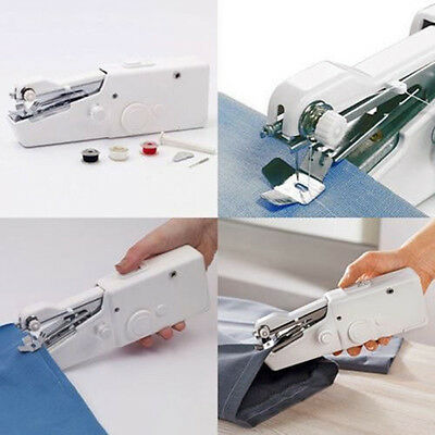 Portable Stitch Sew Hand Held Sewing Machine Quick Handy Cordless Repair Parts.
