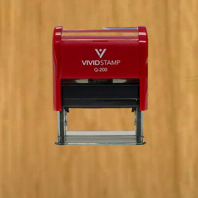 APPROVED w/ By Date Line Self-Inking Office Rubber Stamp (Red) - M