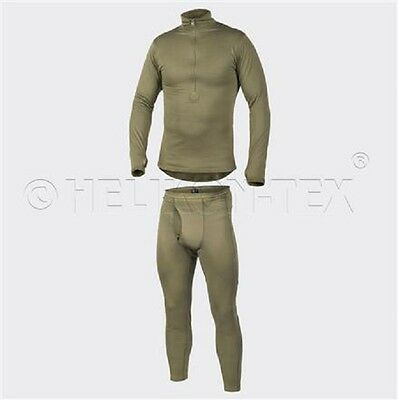Helikon Tex Cold Weather Army Grid Underwear Hose Hemd US Level 2 Oliv Green