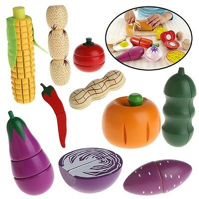 Kitchen Food Kids Toys Wooden Toys for Children Play House Birthday Gift Baby