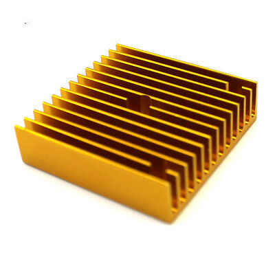 Gold Aluminum Heatsink Radiator Heat Sink 40mm x 40mm x 11mm For Material DIY