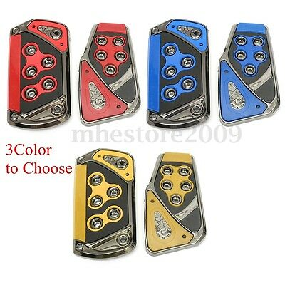 2pcs Universal Non-Slip AT Car Foot Brake Clutch Accelerator Pedal Pads Cover