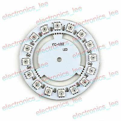 WS2812 5050 16 Ultra Bright RGB Rainbow LED Round Lamp Panel for Arduino