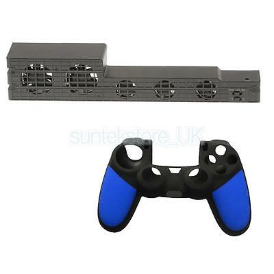 Intelligent Cooling Fan Cooler +Soft Silicone Skin Cover for Playstation 4