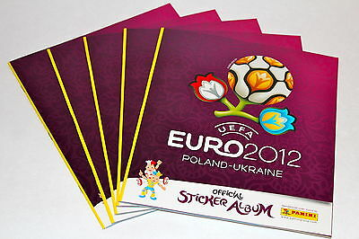 Panini EM Euro 2012 INTERNATIONAL VERSION – 5 x Leeralbum empty album vuoto