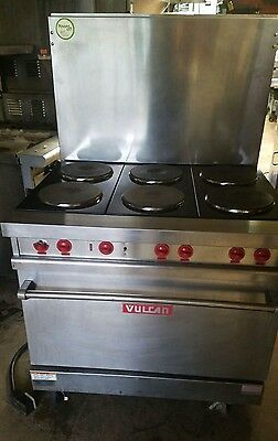 VULCAN E-36 Electric 6-Burner Range Stove with French Hotplates & Standard Oven