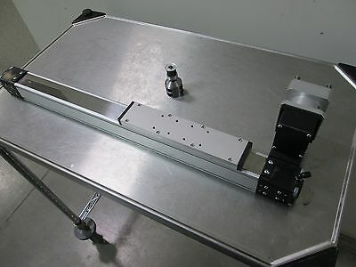 """25"""" Linear Actuator/Side Table Belt Driven w/Drive Pulley 8.5"""" Table 10"""" Travel"""