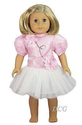 """Queen's Treasures PINK TUTU DRESS for 18"""" American Girl Dolls Isabelle Dance NEW"""