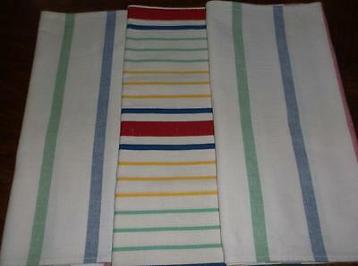 3 Vintage Stripe Kitchen Towels~1 Cannon~2 Startex