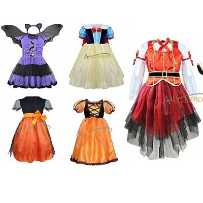 Girl Princess Pirate Fairy Halloween Costume Outfit Party Fancy Dress Up Clothes