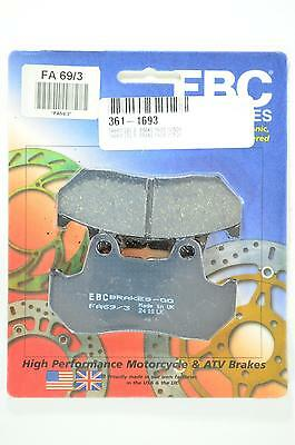 Standard Organic Brake Pads EBC FA69/3 for Scooter Applications