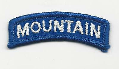 "Us Army Patch - 10Th Mountain Division ""Mountain Tab"" - Merrowed Edge"