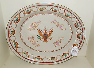 Antique Chinese Qing Dynasty Porcelain Export Charger Plate For American Market