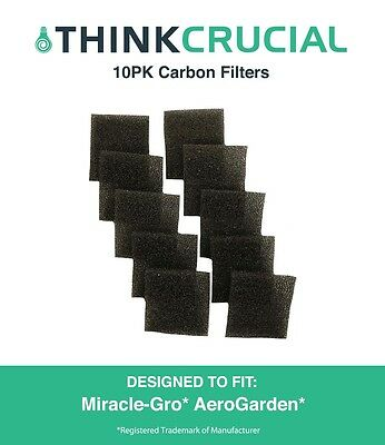 10PK Filters Fit Miracle-Gro AeroGarden Pumps