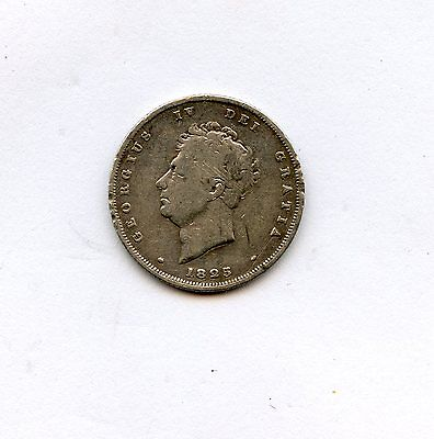 1825 Great Britain George III Sterling Silver Shilling Circulated