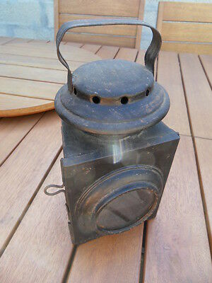 Vintage old lamp ancienne lampe lanterne chemin de fer train gare