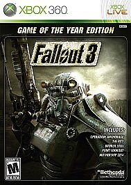 Fallout 3 -- Game of the Year Edition (Microsoft Xbox 360, 2009) NEW