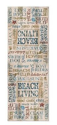 """Heritage Lace Beach Living Table Runner, 18""""x50"""""""