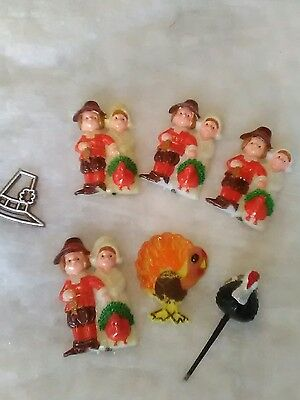 Vintage  Cake Toppers  Thanksgiving Cake/Cupcake Decorations Vintage picks