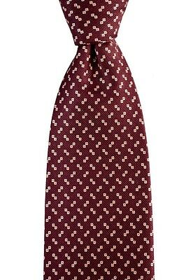 """Mens BRIONI Italy Oxblood dis.n.D040401 Hand Made Woven 3.25"""" Silk Neck Tie NWT!"""
