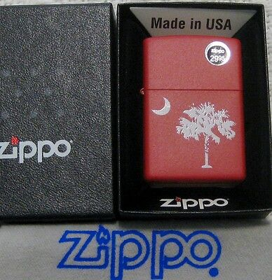 ZIPPO  SOUTH CAROLINA Lighter GAMECOCKS Red  PALMETTO & MOON State Flag   MIB