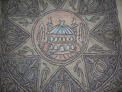 Antique Ottoman Turkish Hagia Sophia Gold Metallic Embroidered Linen Cloth