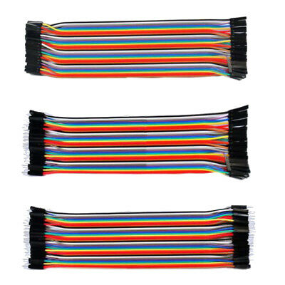 120pcs 20cm 2.54mm Male Female Jumper Wire Dupont Cable for Arduino 3 Models