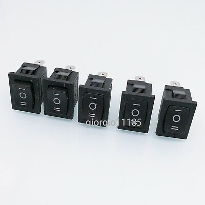 5 pcs Black 3 PIN ON/OFF/ON SPDT Boat Car Rocker Switch 10A 125VAC KCD1