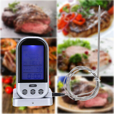 Wireless Remote Kitchen Oven Food Cooking Grill Smoker Meat Thermometer UK