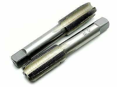US Stock HSS 14mmx1 Metric Taper and Plug Tap Right Hand Thread M14 x 1mm Pitch