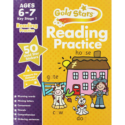 Gold Stars Reading Practice Ages 6-7 Key Stage 1, Children's Books, Brand New