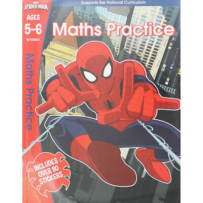 Spider-Man Maths Practice Ages 5-6 by Marvel (Paperback), Children's Books, New