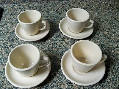 Shenango China Rimrol Inca Ware Tan Beige Restaurant Ware Cups And Saucers