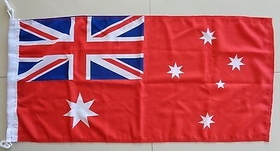 AUSTRALIA RED ENSIGN HEAVY DUTY OUTDOOR WOVEN POLYESTER FLAG 900 x 450 mm