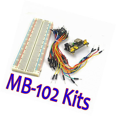 Miroad MB-102 MB102 Solderless Breadboard Power Supply Module Jumper cable Kit