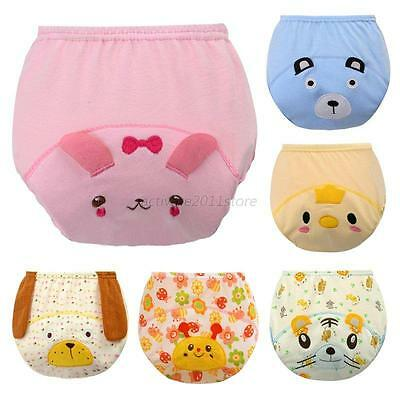 Baby Boys Girls Kid Toilet Training Pull-up Pants Waterproof 3 Layers Animals US