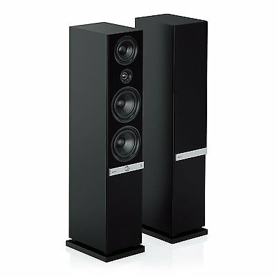 teufel raumfeld stereo l streaming standlautsprecher hifi lautsprecher schwarz eur 899 99. Black Bedroom Furniture Sets. Home Design Ideas