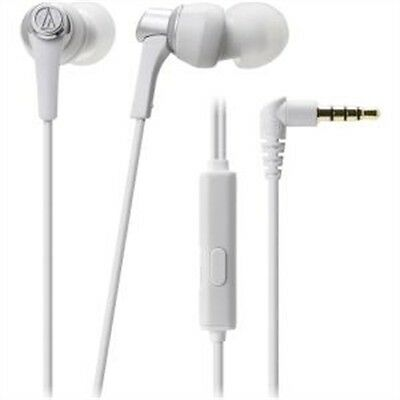 Audio-Technica SonicPro In-Ear Headphones with In-line Mic & Control (White)