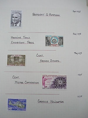 FRANCE Collection of 1975-78 Commemorative issues, 108 stamps all vf MINT