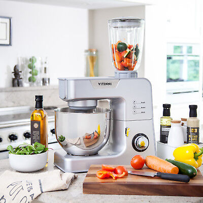 Vitinni Electric Food Processor Stand Mixer with Blender and Mincer