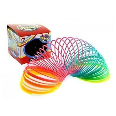 "3"" Magic Colourful Rainbow Spring Slinky Gadget Gift Toy New In Printed Box -"
