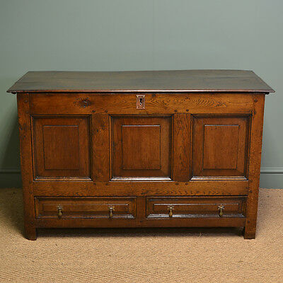 Country Period Oak Antique Mule Chest