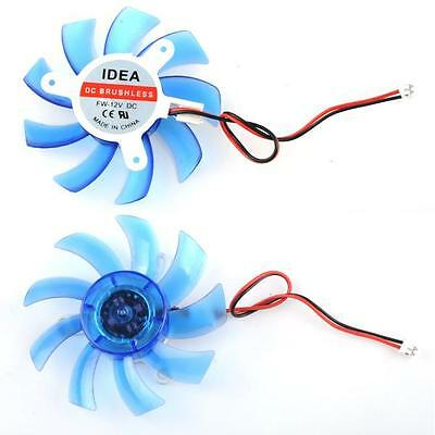 Replacement 75 mm 2 Pin Fan For Computer Video Card VGA Cooling Heatsink Cooler