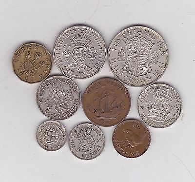 1941 George Vi Part Set Of 9 Coins In Good Fine Or Better Condition
