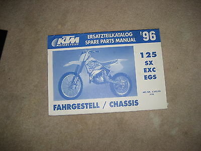 Ktm 125, Sx, Exc, Egs, 96, Catalogo Ricambi, Spare Parts Manuale, Manuale