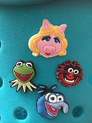 4 Muppets Shoe Charms For Crocs & Jibbitz Wristbands.