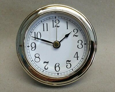 """CLOCK INSERT White Dial,easy to read Arabic numbers,Fit up 3 1/8"""" dia, NEW #CUS"""