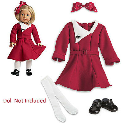 "American Girl KIT'S HOLIDAY OUTFIT for 18"" Dolls Christmas Dress Kit Ruthie NEW"